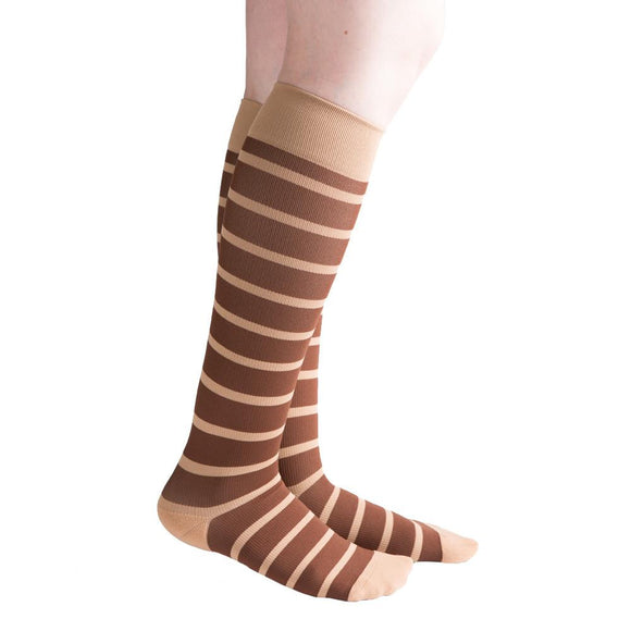 VenaCouture Women's Bold Candy Striped 15-20 mmHg Compression Sock