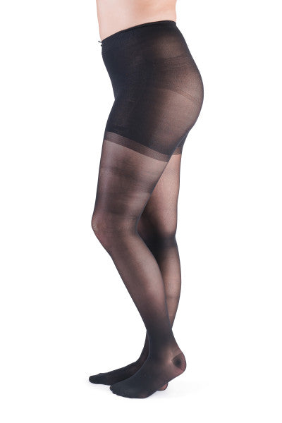 VenActive Women's Premium Sheer 15-20 mmHg Pantyhose, Black, Main
