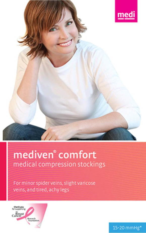 Mediven Comfort 15-20 mmHg Thigh High w/ Lace Silicone Top Band