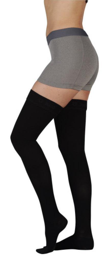 Juzo Women's Naturally Sheer 15-20 mmHg Thigh High w/ Silicone Top Band