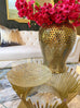 Gold Accented Round Dish-Inspire Me! Home Decor