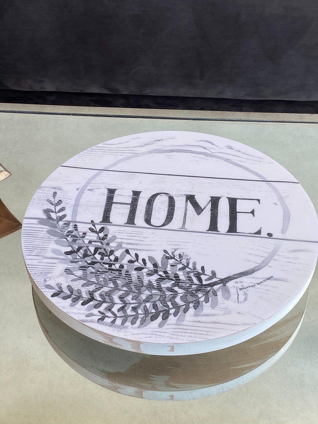 "Wooden ""Home"" Lazy Suzan-Inspire Me! Home Decor"