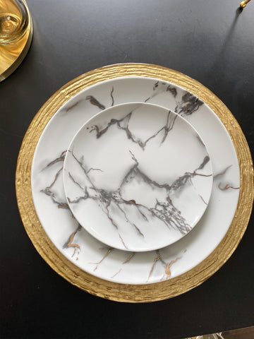 Metallic Marbled 16 Piece Dinner Set-Inspire Me! Home Decor