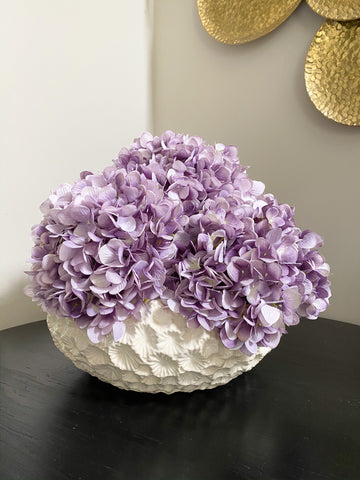 Large White Floral Bowl-Inspire Me! Home Decor