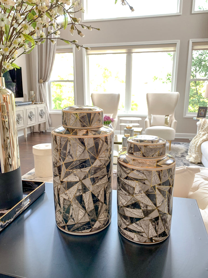 Geometric Jars - (2 Sizes)