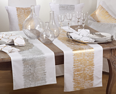 Gold Metallic Table Runner