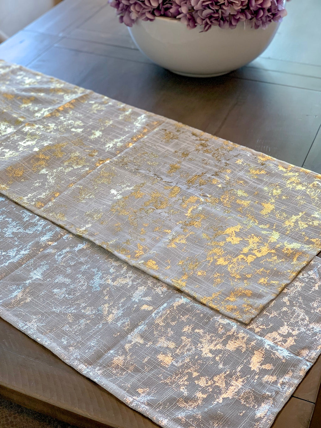 Foil Design Table Runner - (2 Colors)