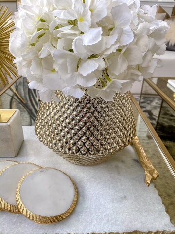 Mercury Decorative Studded Vase-Inspire Me! Home Decor