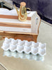 White Ceramic Egg Tray-Inspire Me! Home Decor