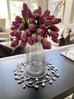 Silver Brushed Glass Vase-Inspire Me! Home Decor