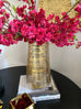Gold Brushed Glass Vase