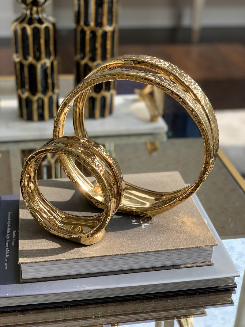 Imperfect Gold Circle Tealight Candle Holder - ( 2 Sizes )