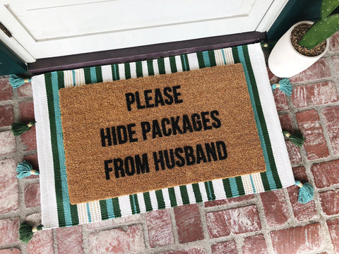 Please Hide Packages Doormat
