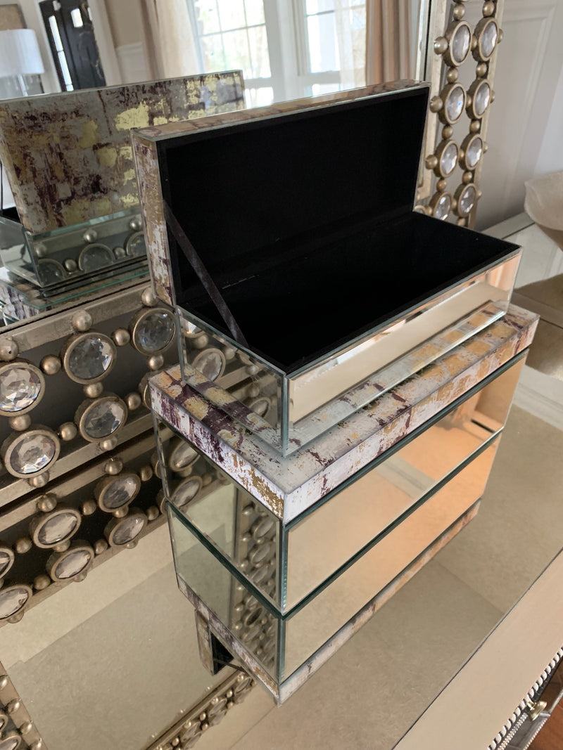 Glass Mirrored Box (Two Sizes)