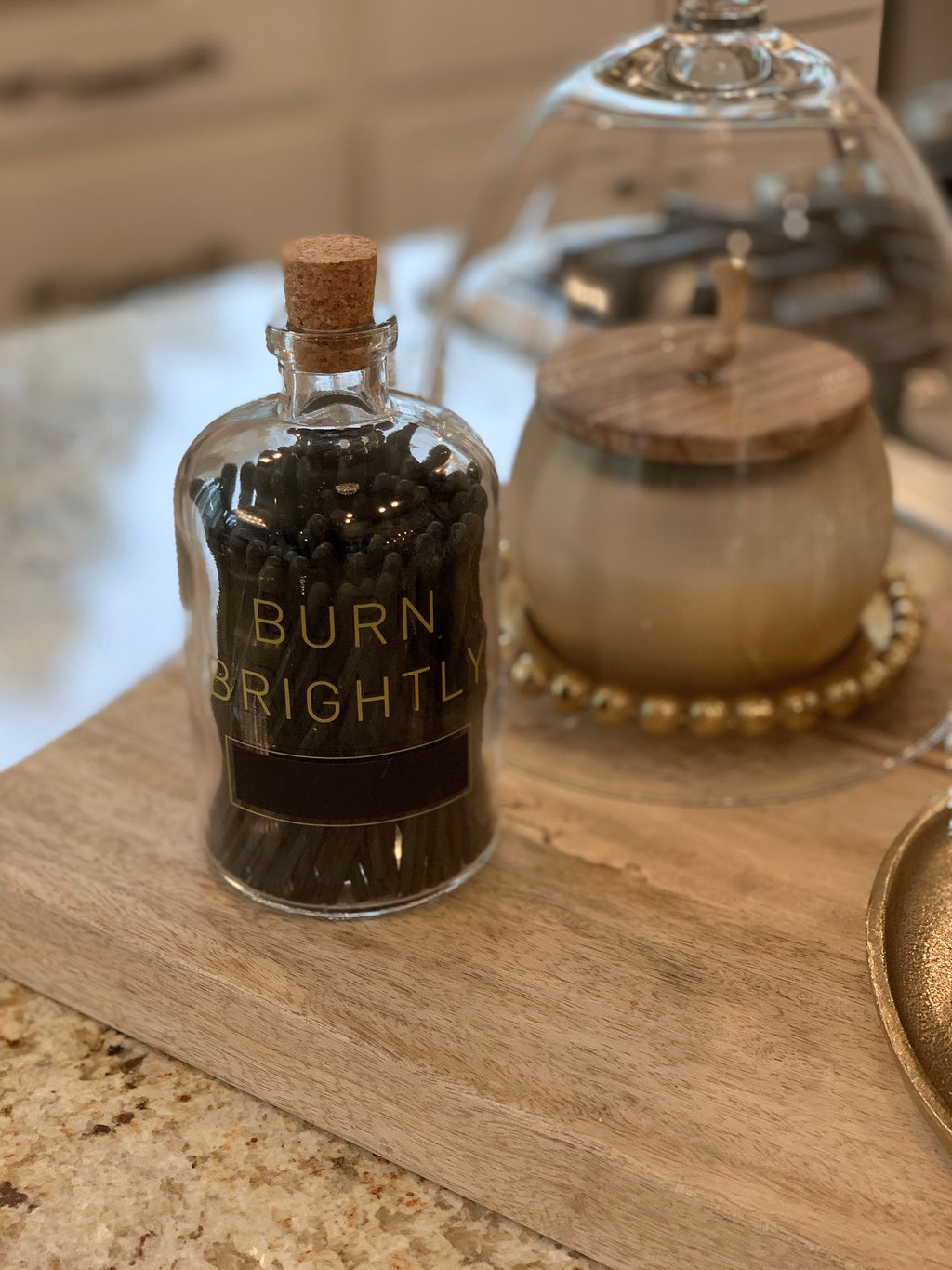 """Burn Brightly"" Match Bottle"