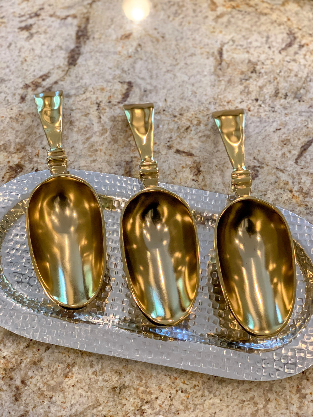 Gold Gilded Ice Scoop-Inspire Me! Home Decor