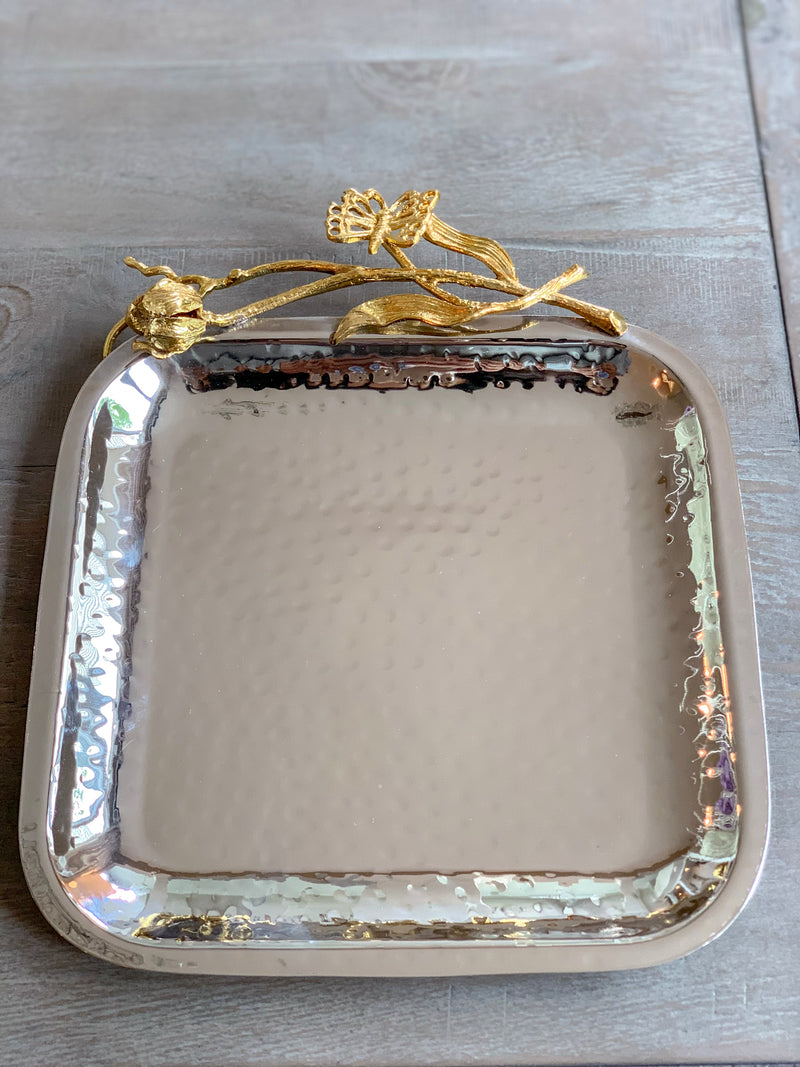 Hammered Square Tray