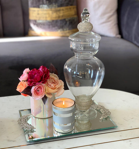 Imperfect Rhinestone Apothecary Jar