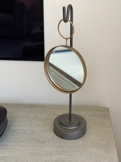 Hanging Metal Circle Mirror