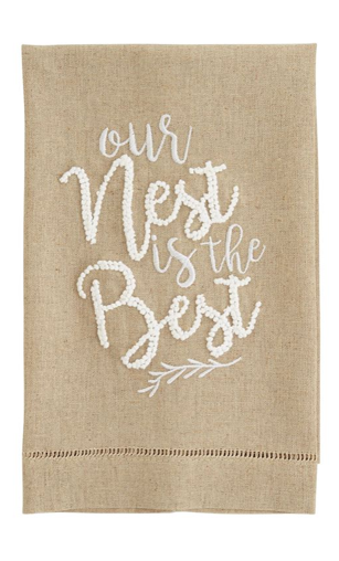 OUR NEST IS BEST Hand Towel