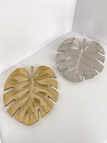 Split Leaf Tray (2 Colors)-Inspire Me! Home Decor