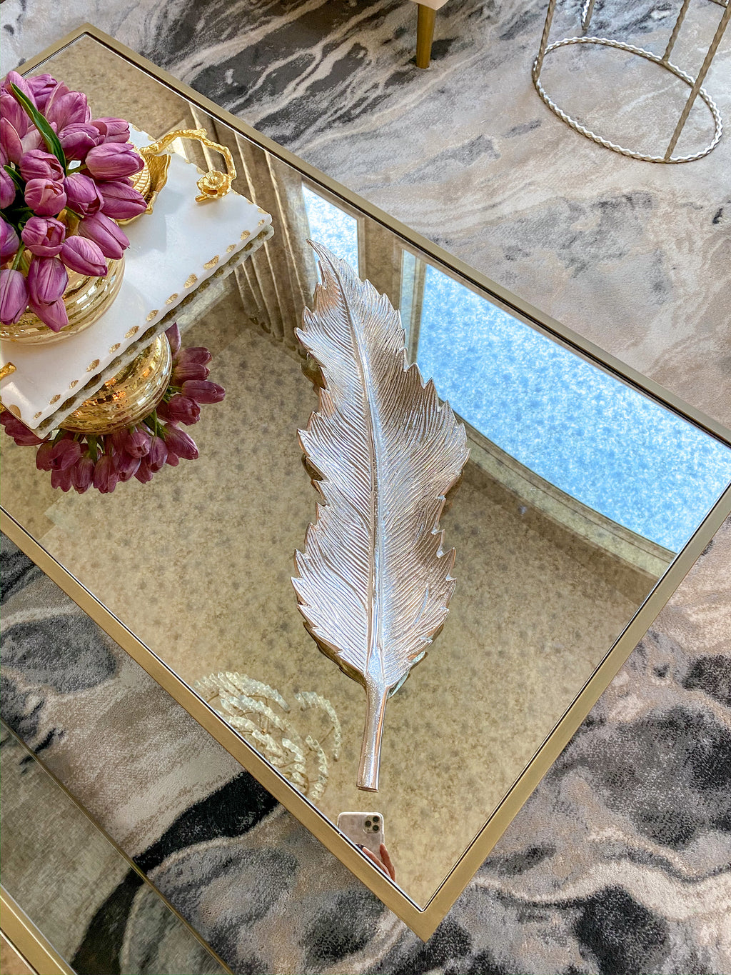 Long Skinny Feather Tray (2 Colors)