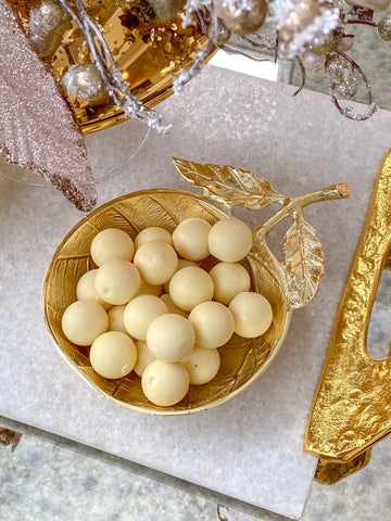 Oversized Gold Metal Snack Bowl-Inspire Me! Home Decor