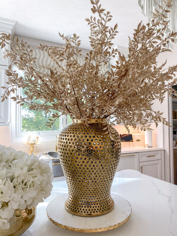 Gold Metallic Glitter Stem-Inspire Me! Home Decor