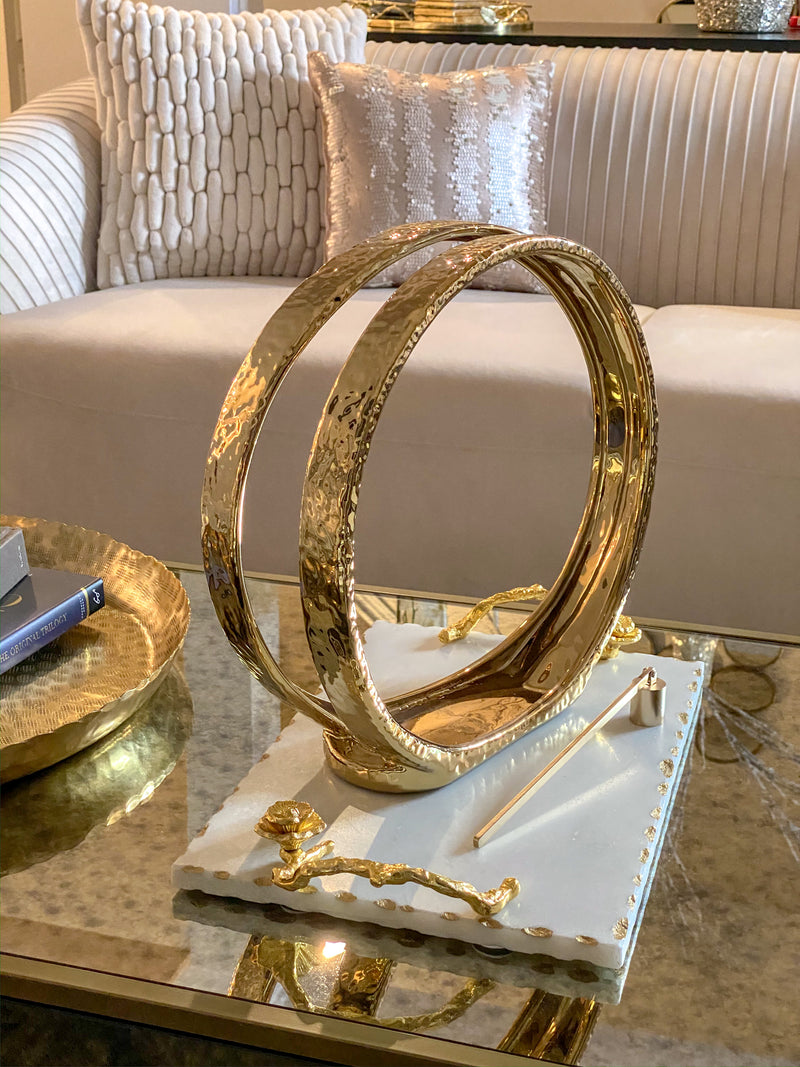 Large Gold Tealight Candle Holder