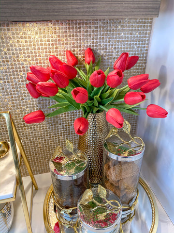Real Touch Tulip Bouquet (5 Colors)-Inspire Me! Home Decor