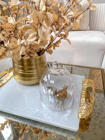 Crumpled Edge Gold Vase-Inspire Me! Home Decor