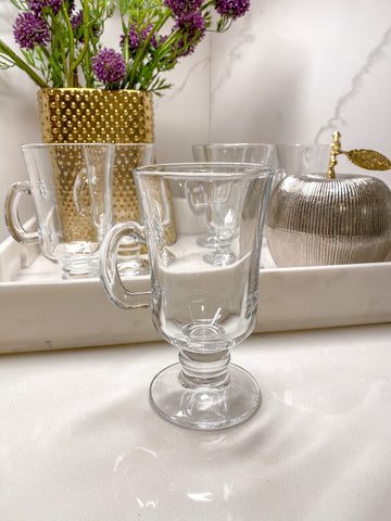 Footed Glass Mug with Handle-Inspire Me! Home Decor