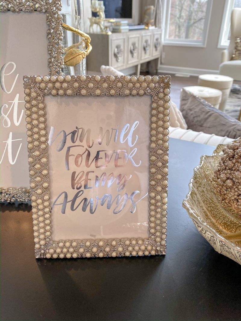 Triple Pearl Picture Frame