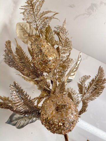 Metallic Gold Fern Spray-Inspire Me! Home Decor