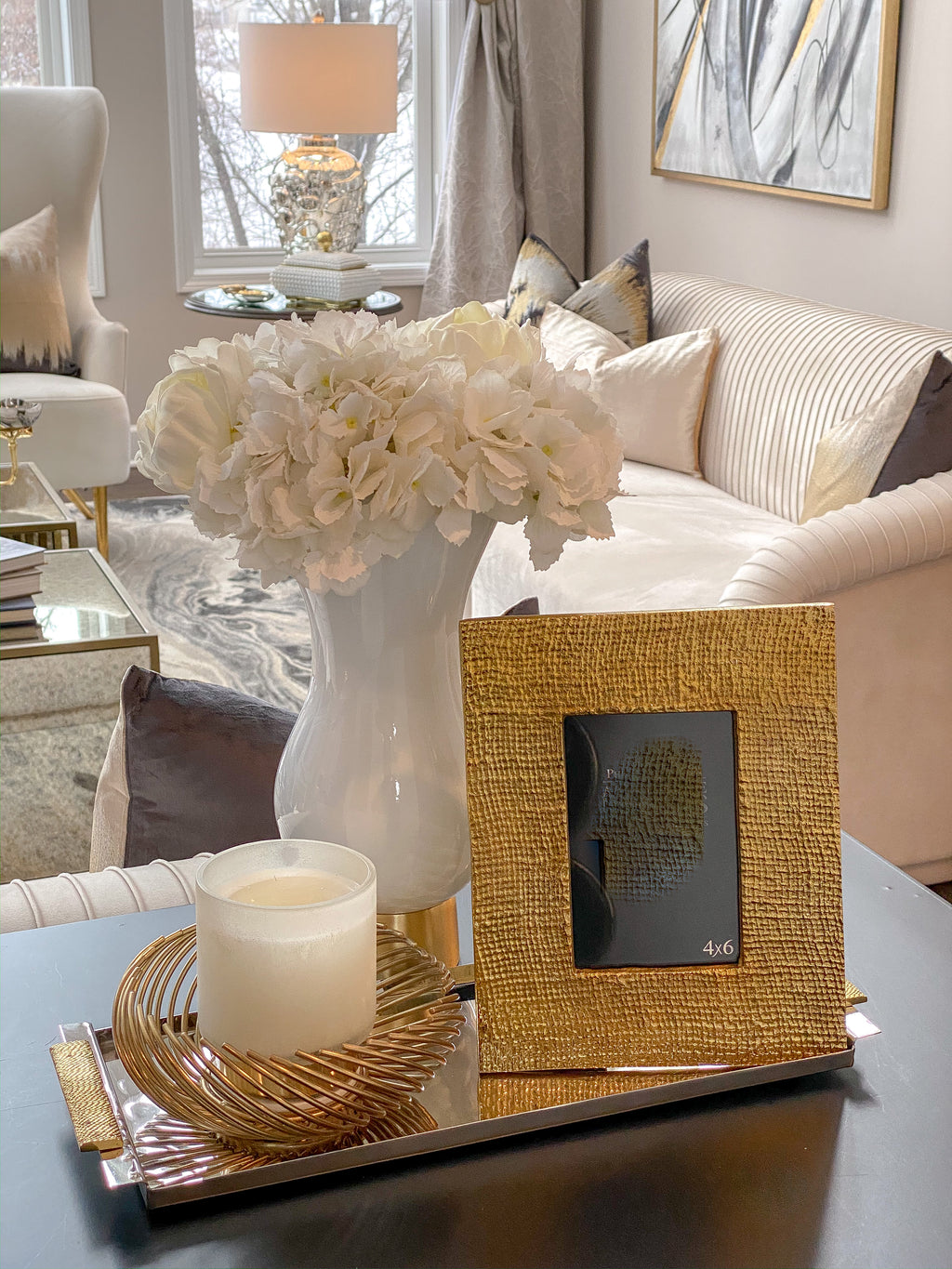 Textured Gold Metal Photo Frame-Inspire Me! Home Decor