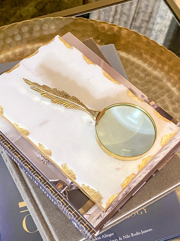 Feather Magnifying Glass-Inspire Me! Home Decor