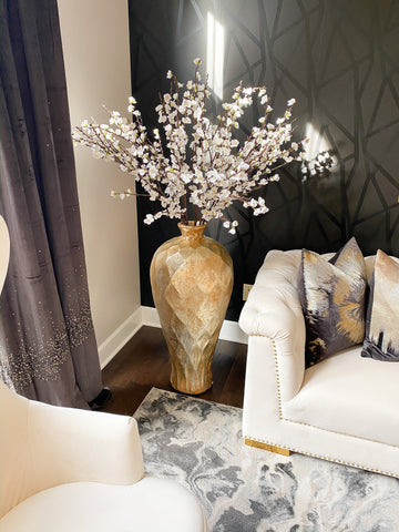 "50"" Tall Cherry Blossom Stem (2 Colors)-Inspire Me! Home Decor"