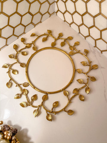Gold Metal Decorative Wreath-Inspire Me! Home Decor