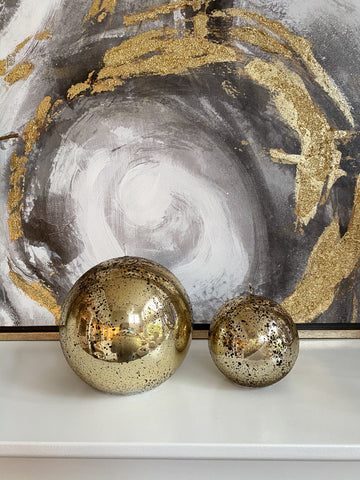 Gold Orb Candles (2 Sizes)-Inspire Me! Home Decor