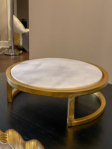 Round Marble Tray Stand-Inspire Me! Home Decor