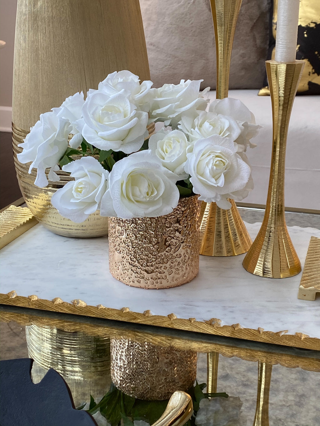 Gold Texture Votive Vase-Inspire Me! Home Decor