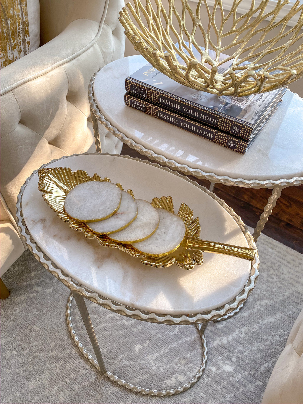 Feather Trays (2 Colors)-Inspire Me! Home Decor