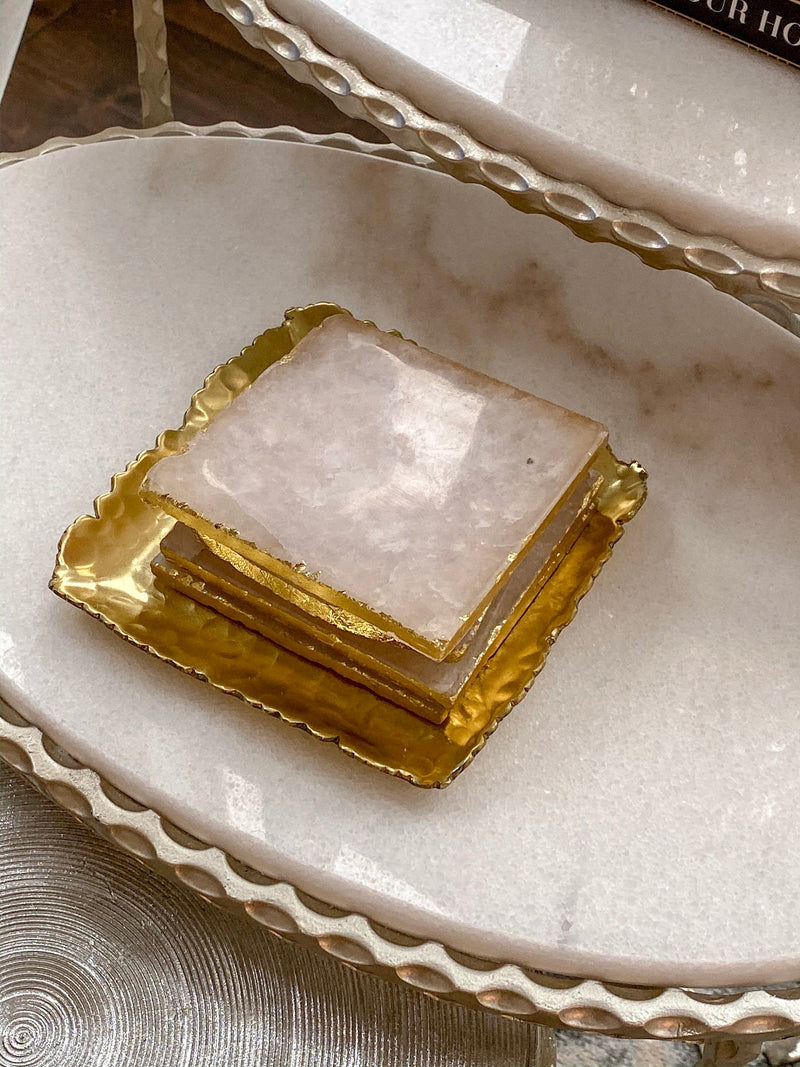 Gold Hammered Square Tray