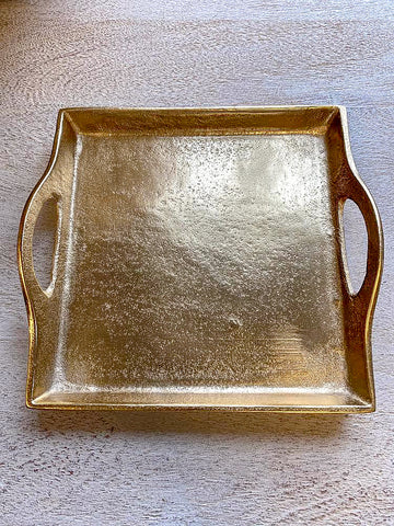 Gilded Gold Square Tray-Inspire Me! Home Decor