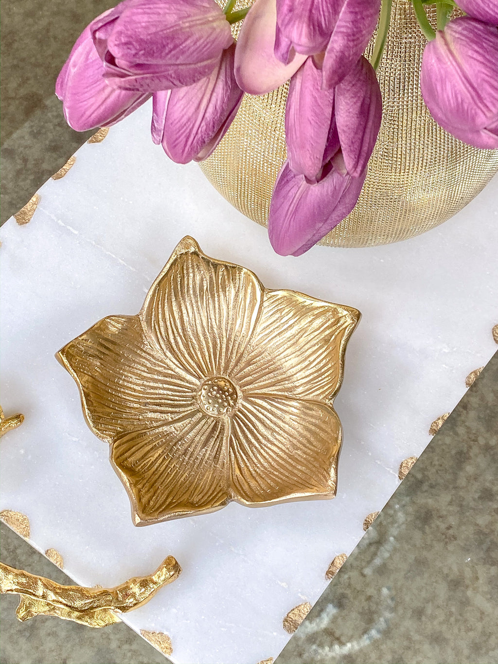 Gold Flower Dish