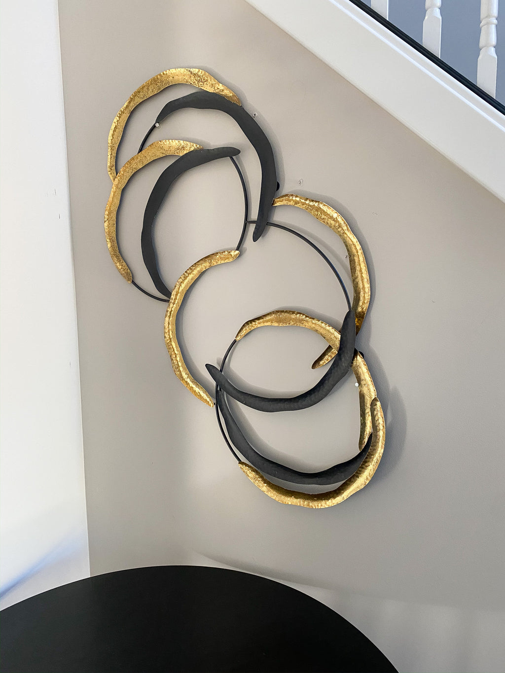 Gold and Black Loop Wall Decor-Inspire Me! Home Decor