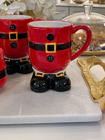 Santa Belt Footed Mug-Inspire Me! Home Decor