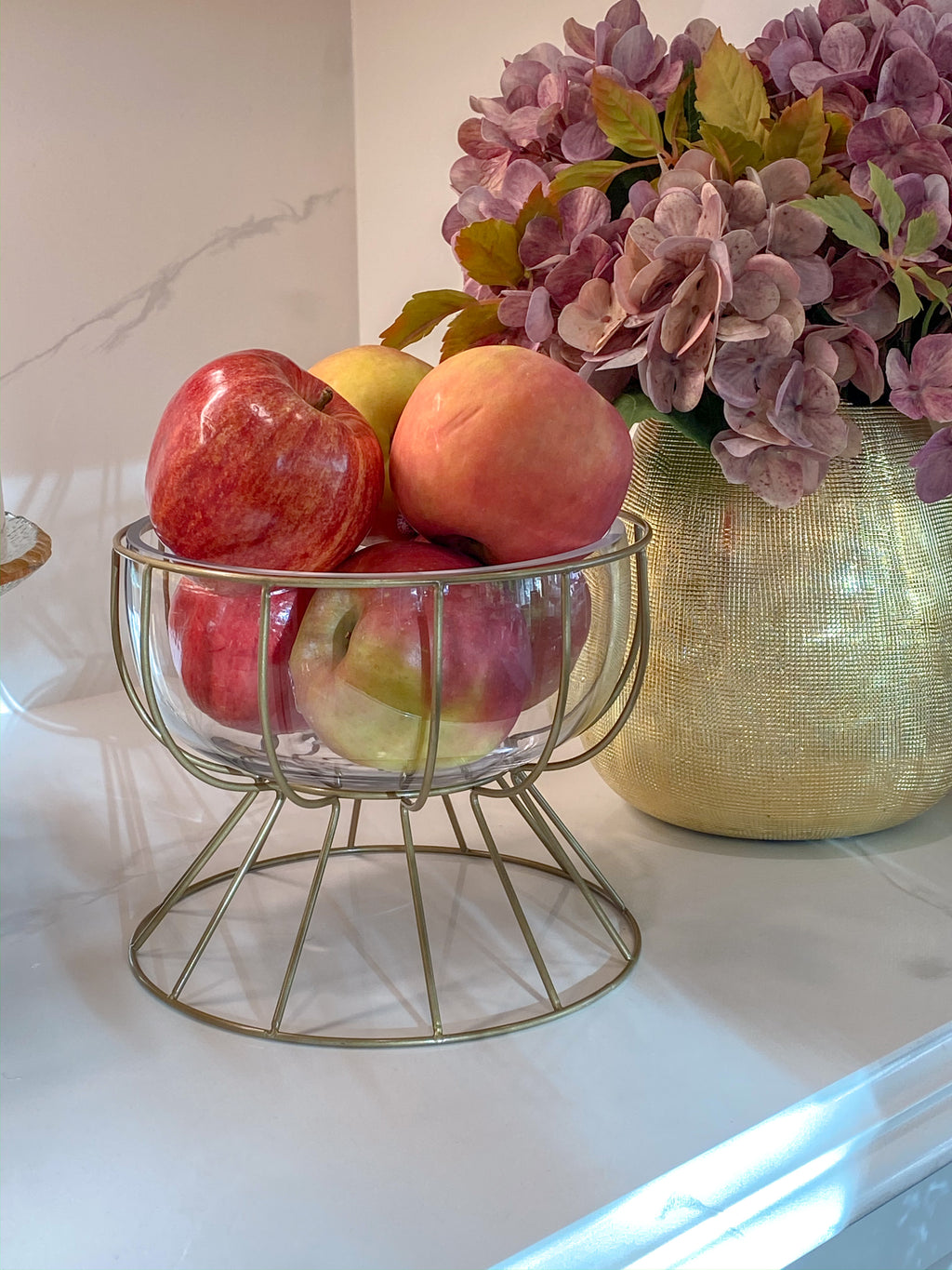 Gold Wire Compote-Inspire Me! Home Decor