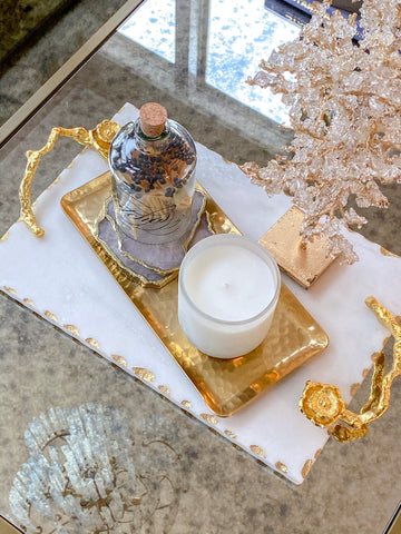 Rectangle Hammered Gold Tray-Inspire Me! Home Decor