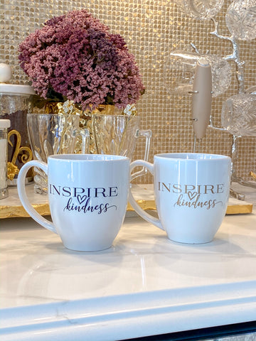 Inspire Kindness Bistro Mug (2 Text Colors)-Inspire Me! Home Decor